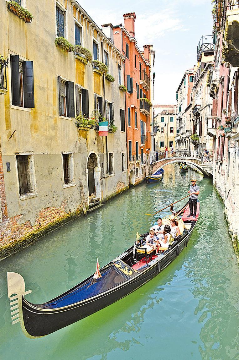 意大利威尼斯的貢多拉。(AFP/Getty Images)
