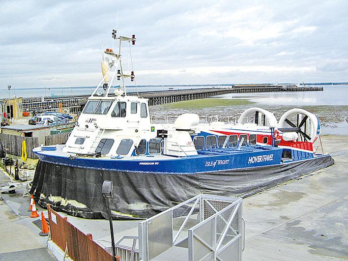 英國氣墊船。(Wikipedia)