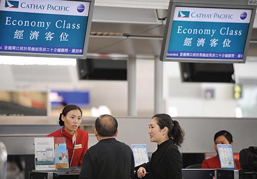 據《路透社》報道指,國泰航空將於今周內宣佈裁員計劃。(AFP/Getty Images)