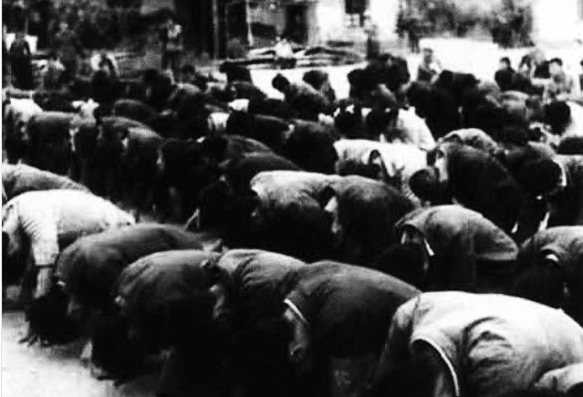 在1978年冬到1979年春,5萬名在雲南插隊的上海知青集體下跪請願要求回家 。(網絡圖片)