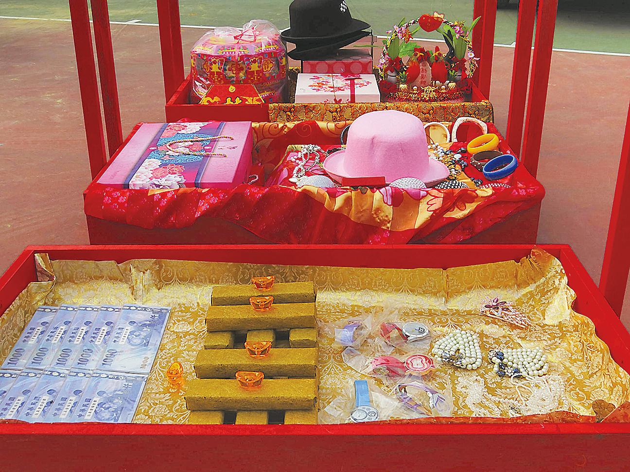 傳統結婚聘禮(攝影:王嘉益 大紀元)