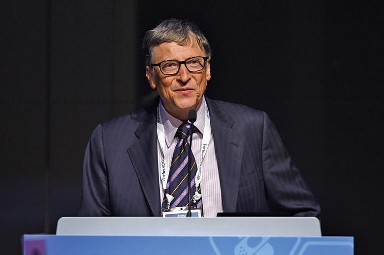 全球8位最有錢富豪之一的微軟創辦人比爾.蓋茨。(Getty Images)