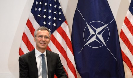 北約秘書長斯托爾滕貝格(Jens Stoltenberg)。(CHRISTOF STACHE/AFP/Getty Images)