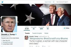 特朗普推特粉絲超過二千萬門檻