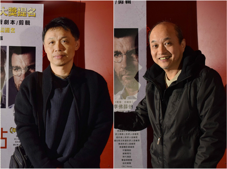 驚爆焦點》(又譯:聚焦)在台北舉辦一場別開生面的「追求真相特映會」,圖為導演楊順清與鄭文堂。(采昌國際多媒體提供)
