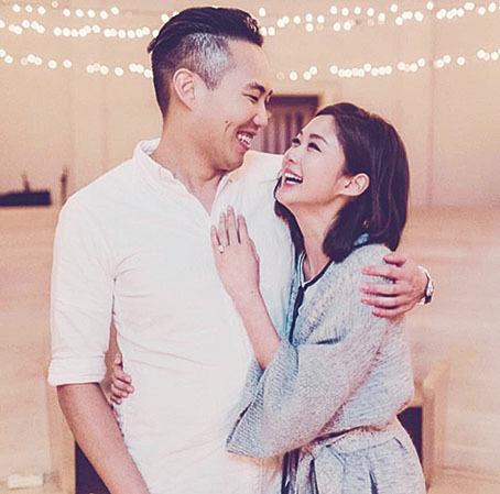岑麗香和老公強強婚後返港,慢慢適應香港生活。(岑麗香facebook)