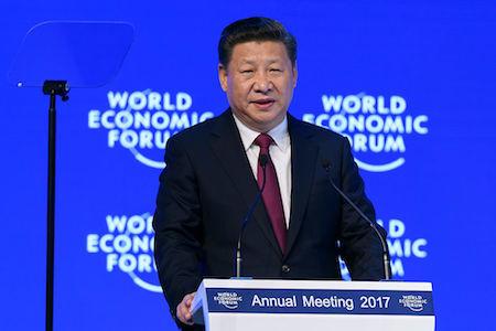 瑞士達沃斯世界經濟論壇17日(周二)開幕。中國國家主席習近平發表主旨演講。(FABRICE COFFRINI/AFP/Getty Images)