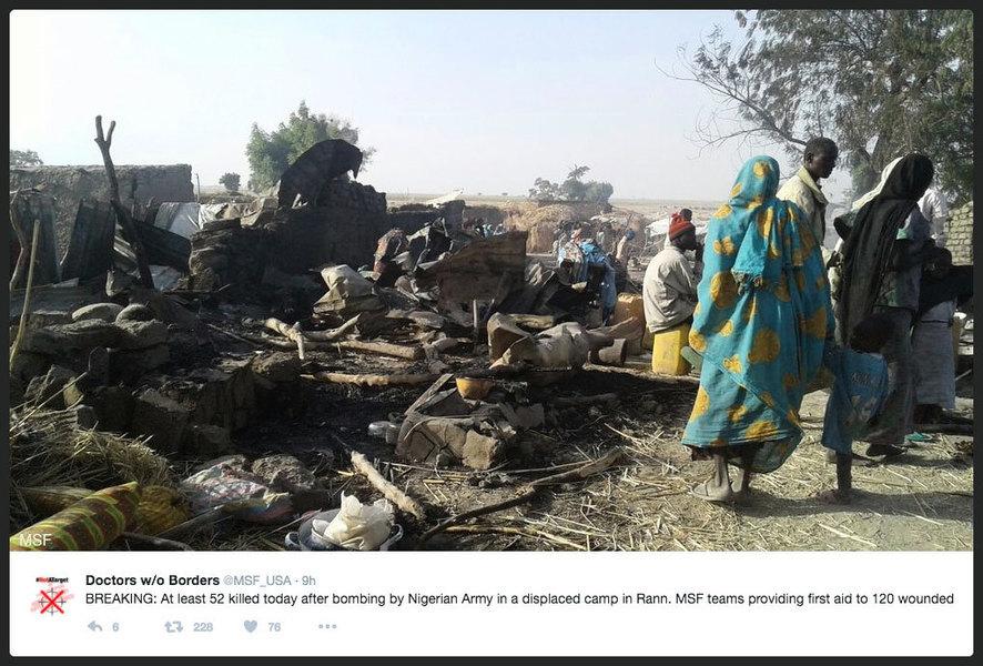 尼日利亞軍機誤殺52平民 傷上百人