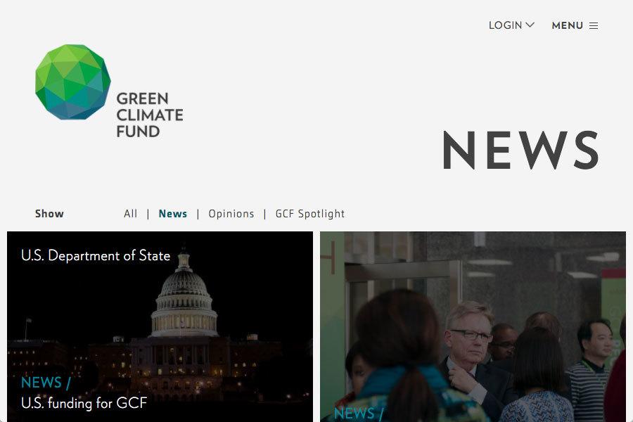 奧巴馬政府於17日宣佈,將再向聯合國「綠色氣候基金」(Green Climate Fund)撥款5億美元,作為之前奧巴馬總統承諾給聯合國的30億美元環保資金的一部份。(greenclimate.fund)