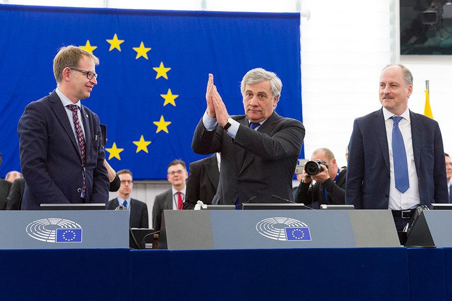新當選歐洲議會主席安東尼奧・塔亞尼。(歐洲議會(EP),European Union 2017)