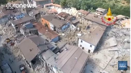 意大利一小時三次強震 官員稱為「大災難」