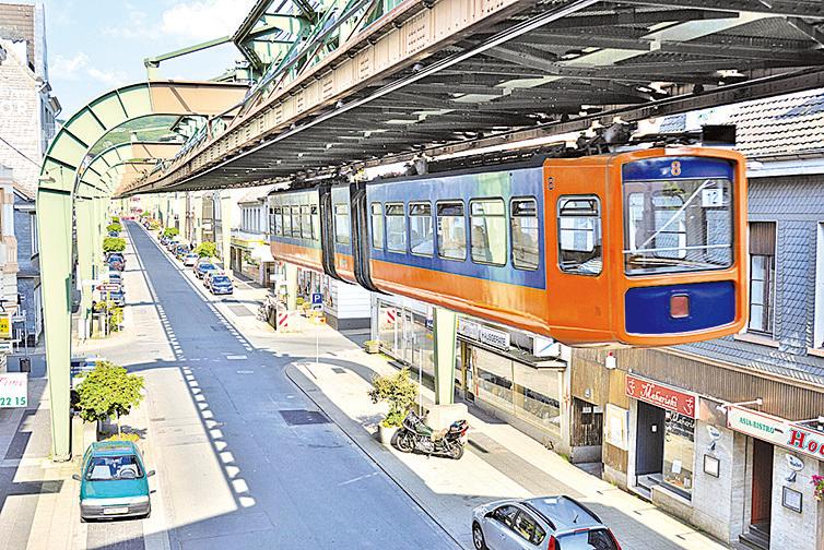 懸軌纜車。(Mbdortmund / Wikipedia)