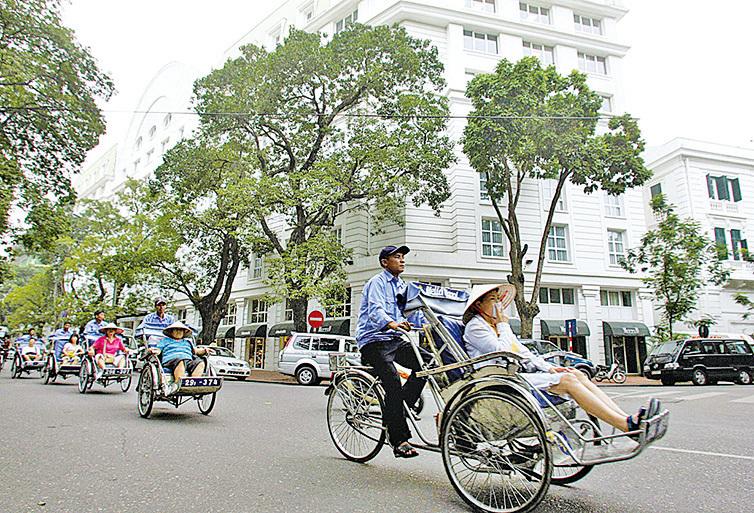 人力三輪車。(AFP / Getty Images)