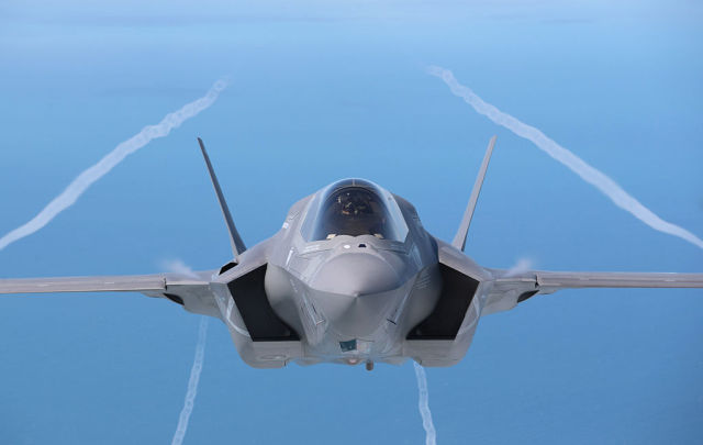 美軍F-35B最新隱形戰機。(Getty Images)