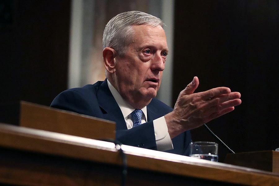 美國參議院軍事委員會周三(18日)以壓倒性的絕對多數票通過審核,同意美國準總統特朗普提名的馬蒂斯(James Mattis)為美國國防部長。(Mark Wilson/Getty Images)