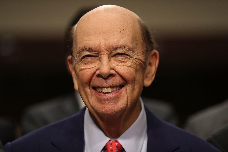 獲準總統特朗普提名出任商務部部長的羅斯(Wilbur Ross),18日出席參院確認聽證會。(Joe Raedle/Getty Images)