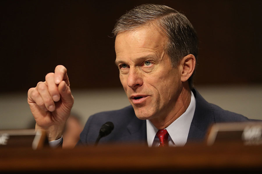 參院商務委員會主席為參議員圖恩(John Thune)。(Joe Raedle/Getty Images)