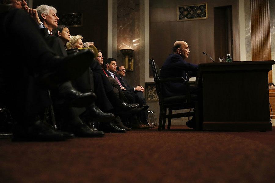 聽證會現場。(Joe Raedle/Getty Images)