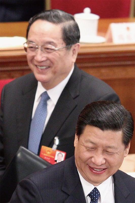 1月15日至18日,習近平訪問瑞士期間,政治局常委俞正聲坐鎮新疆「維穩」。(Getty Images)
