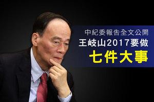 中紀委報告全文公開 王岐山2017要做七件大事