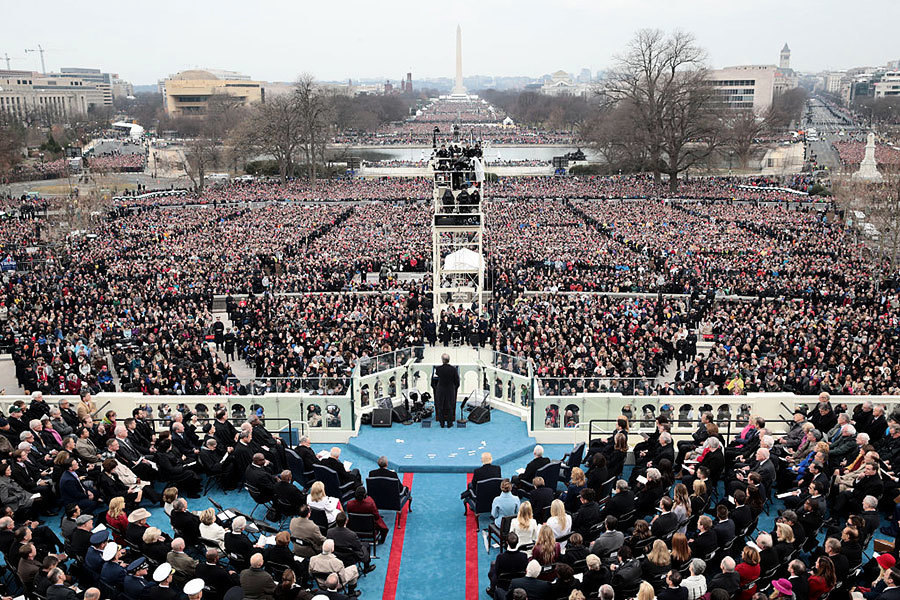 組圖:特朗普就職典禮現場 人山人海