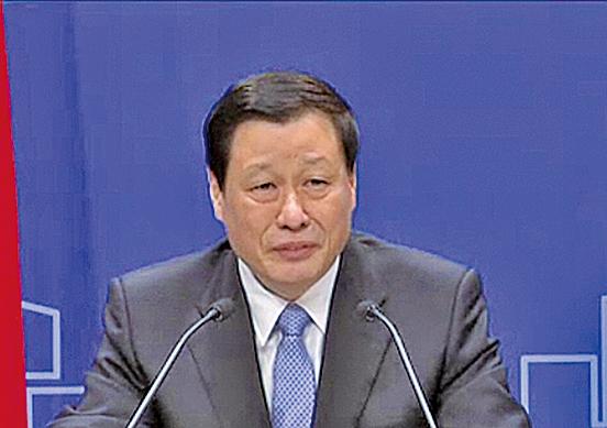 剛履新的上海市長應勇。(視像擷圖)