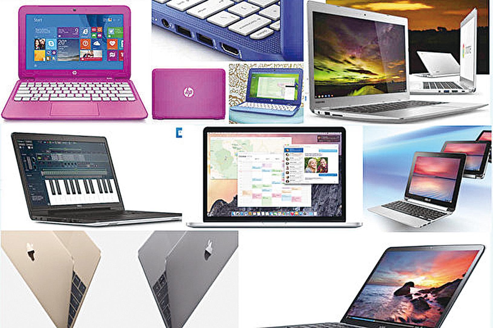 想要在2017年購買一台新的手提電腦?價格、性能、尺寸等等都可能是你要考慮的問題。(大紀元合成圖)