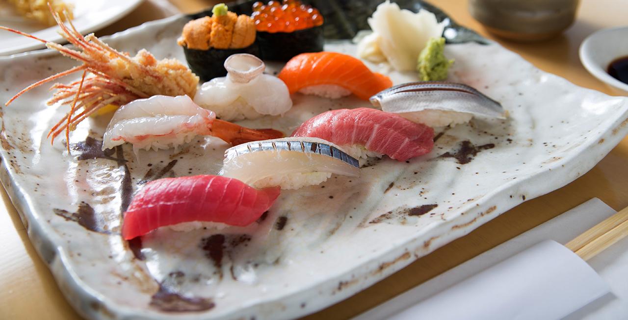 色彩艷麗的新鮮壽司。(Shimizu壽司酒吧提供)