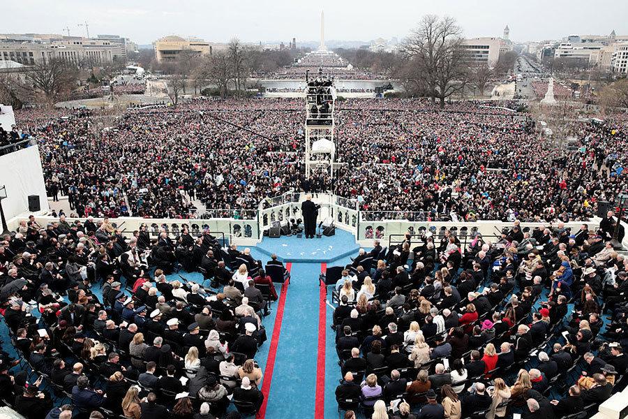 白宮發言人砲轟媒體所報就職典禮人數造假
