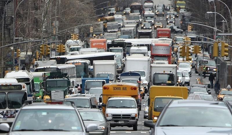 交通擠塞已超越犯罪成為紐約社區中受關注的頭號問題。(Mario Tama/Getty Images)