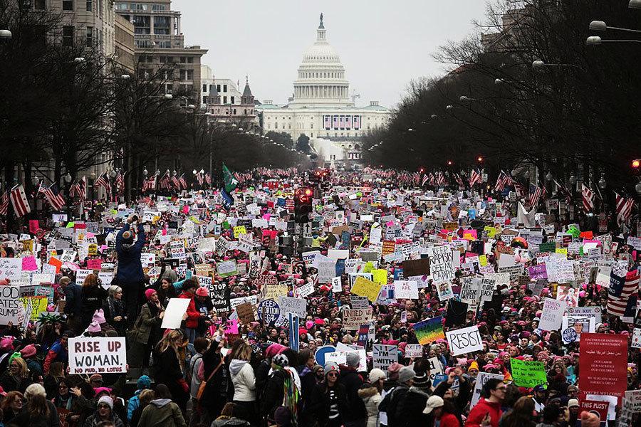 華盛頓女性大遊行 美國各地有活動支持