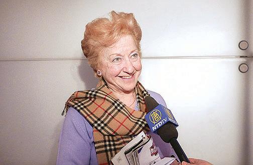 劇院常客Sandra Scott 女士。( 新唐人電視台)