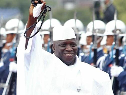 岡比亞總統賈梅雖然同意下台,但卻捲走國庫千萬美元。(中央社檔案照片)