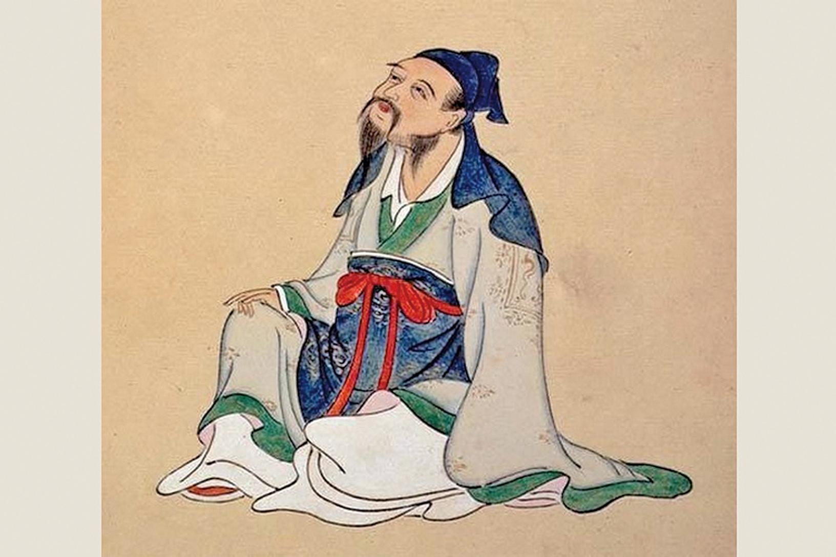 李白畫像。(公有領域)