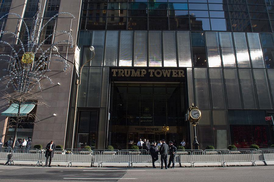 位於紐約市第五大道的特朗普大樓。(BRYAN R. SMITH/AFP/Getty Images)