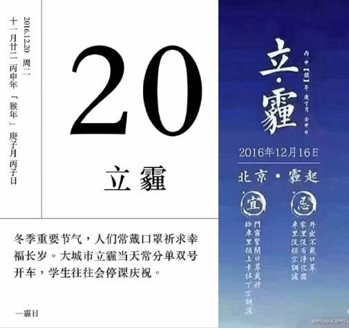 過年陰霾再襲中國北方 網民創「立霾」節氣