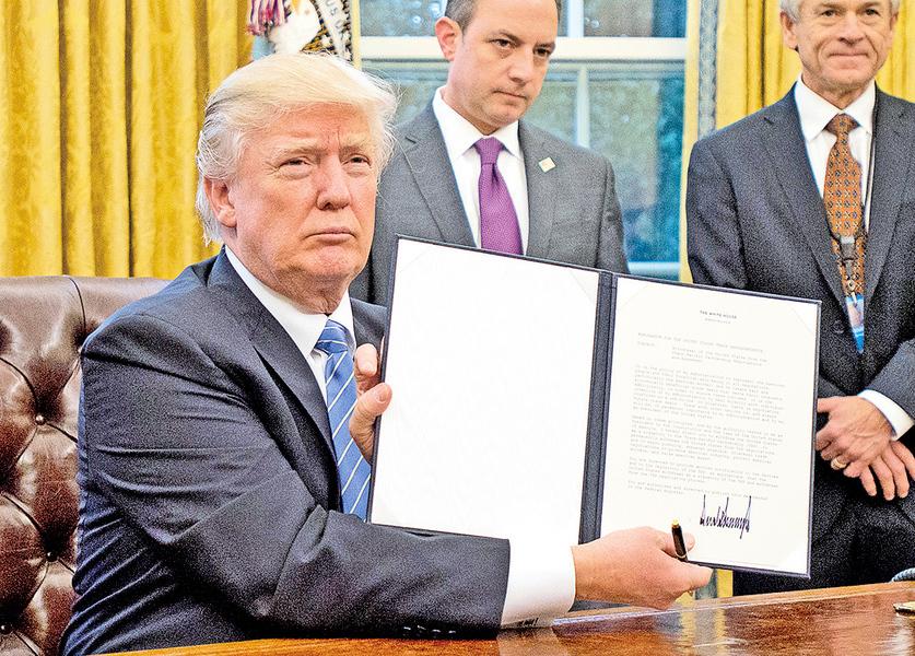 首個工作日 特朗普簽3命令