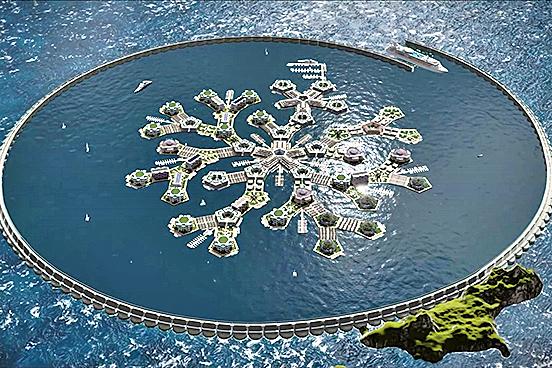 南太平洋將建首座海上漂浮城市