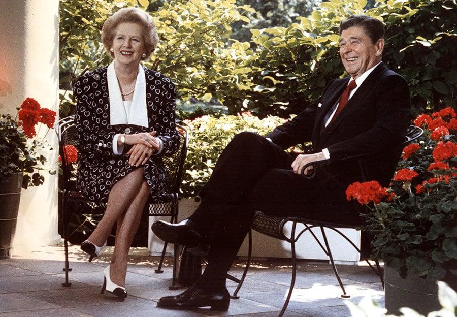 美國總統特朗普(川普)和英國首相文翠珊將於1月27日在美國首都華盛頓會面。外媒稱,特朗普和文翠珊在重塑列根和戴卓爾時期美英之間的密切關係。(MIKE SARGENT/AFP/Getty Images)