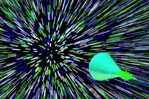 科學家使用極高速攝影 首次抓拍光「音爆」
