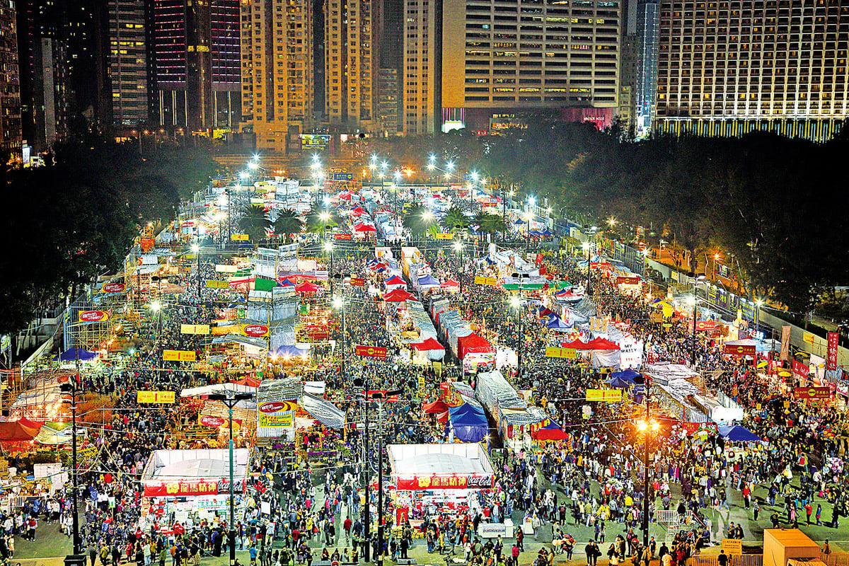 香港最大的維園年宵市場。(大紀元資料圖片)