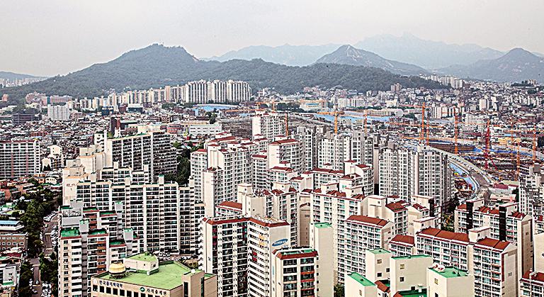 韓國首爾公寓。(全景林/大紀元)