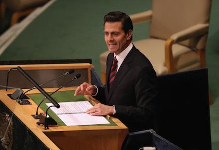 墨西哥總統潘尼亞涅托周三表示,墨西哥將不會為在美墨邊境建牆付款。(John Moore/Getty Images)