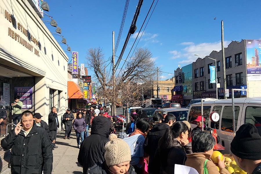 特朗普要在美墨邊界築牆,紐約的華人社區卻表現的出奇平靜,特別是福建移民最多的布魯克林日落公園。(于佩/大紀元)