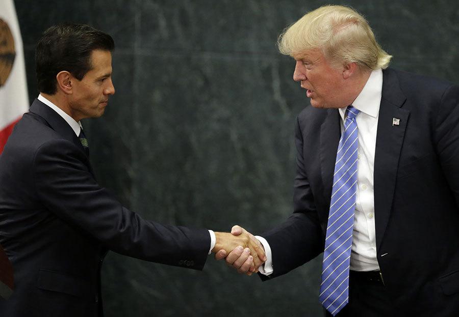 周五(1月27日),美國總統特朗普(川普)和潘尼亞涅托進行了一次長達一個小時的電話會談。(YURI CORTEZ/AFP/Getty Images)