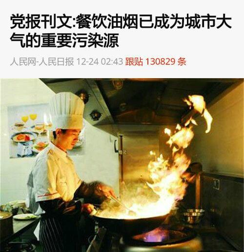 《人民日報》刊文稱,一盤嗆炒辣椒就能讓PM2.5「爆表」。(網絡圖片)