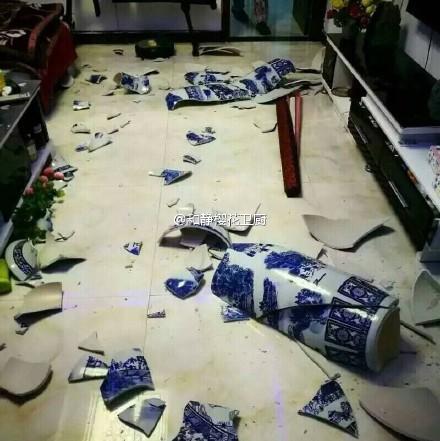 室內的物品遭受損失。(網絡圖片)