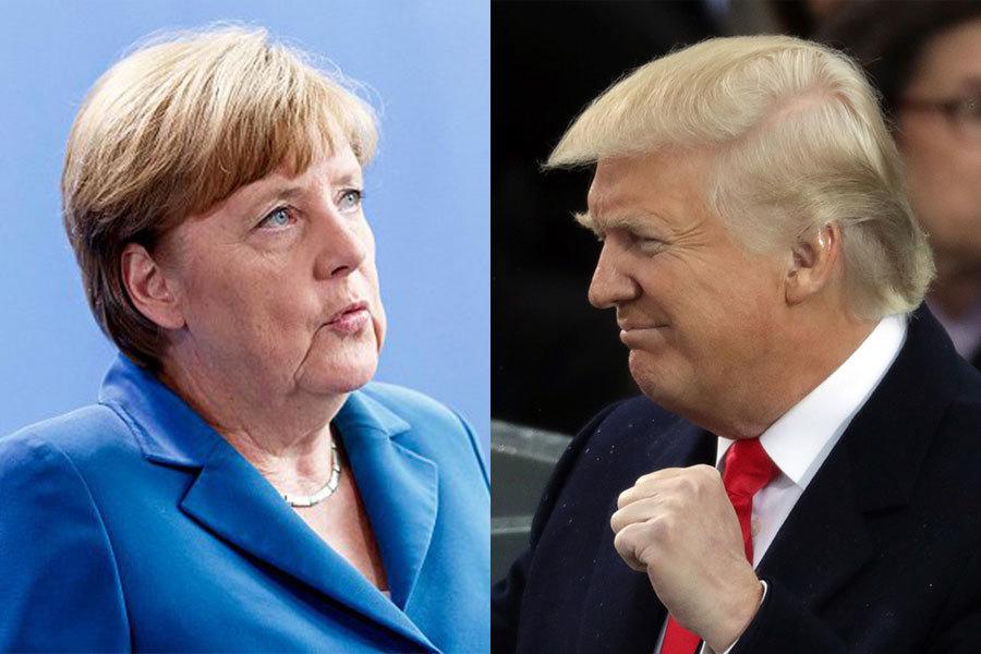 德國總理默克爾將於本月前往美國首都華盛頓,在白宮和美國總統特朗普會面。(Getty Images/大紀元合成圖)