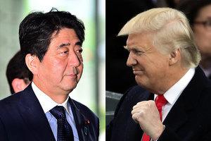 特朗普與安倍通電話 承諾鐵定保日本安全