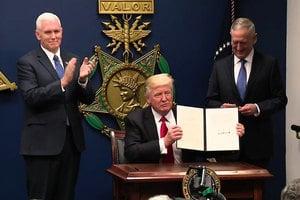 特朗普發佈重建軍隊總統令 提高長期戰備力量
